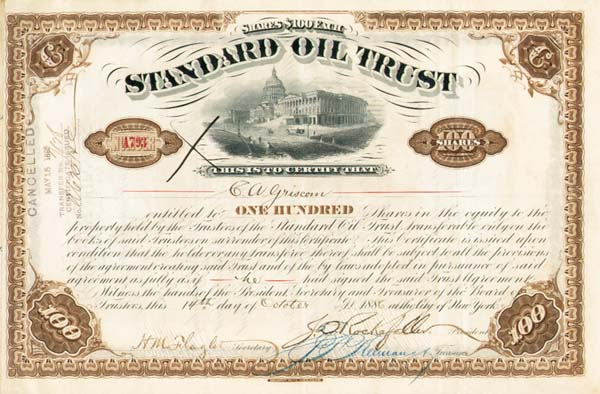 standard oil trust The dismantling of the standard oil trust the history of the standard oil company by ida tarbell educate yourself- standard oil -- part i witch-hunting for robber.